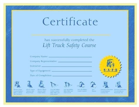 forklift operator certification card template 90 free forklift certification card template free