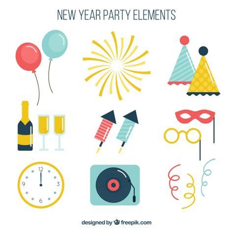 new year element colecci 243 n de elementos de de a 241 o nuevo descargar