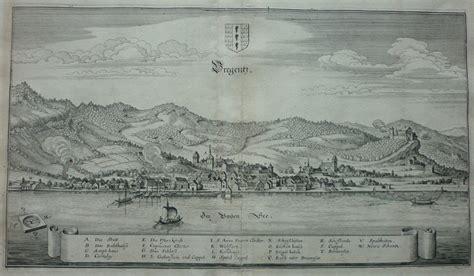 Bregenz Original merian original kupferstich ansicht bregenz bodensee