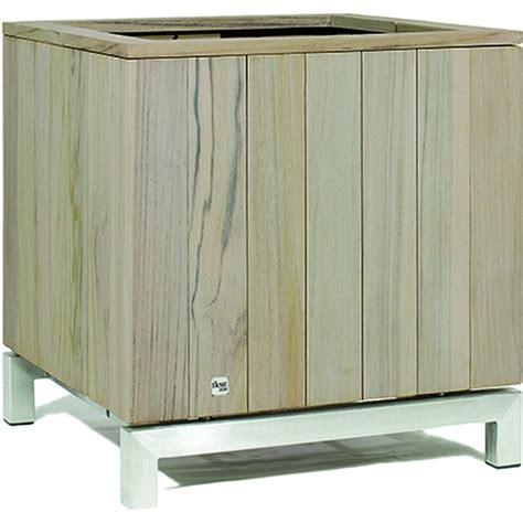Gagang Kayu 43 Cm kayu pflanzgef 228 223 60x60 65 cm teak vintage grau