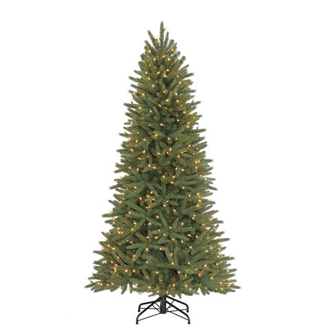 holiday living christmas tree lights out shop holiday living 6 5 ft pre lit pine artificial