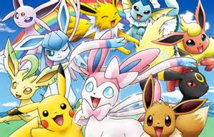 Download free pictures images and photos pokemon pikachu and eevee