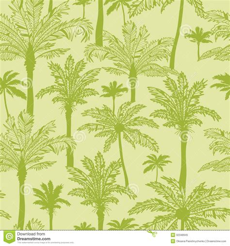 background pattern trees green palm trees seamless pattern background stock vector