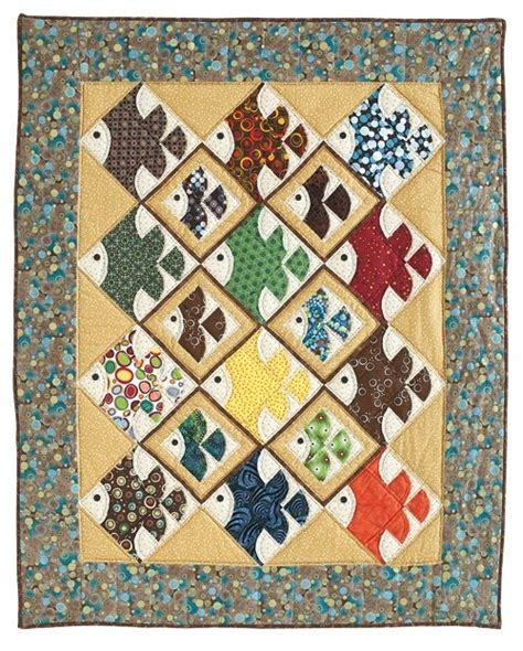 Patchwork Fish Pattern - 17 best images about linus quilt ideas a on