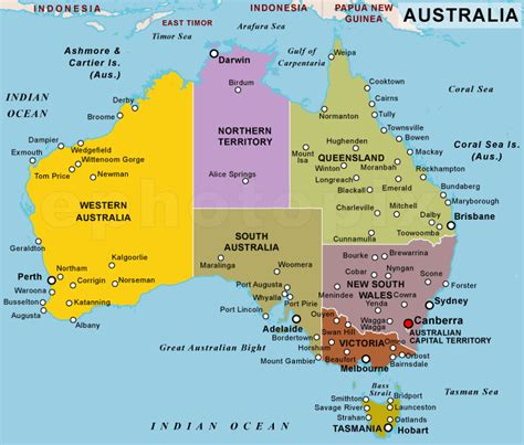 political map of australia with capitals australia political map political map of australia