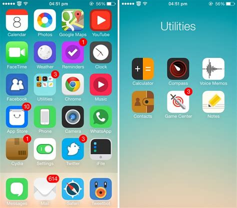 theme icon maker cydia five gorgeous themes for ios 7 that replace its icons