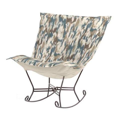 puff chair rocker chicago textile puff rocker monet water