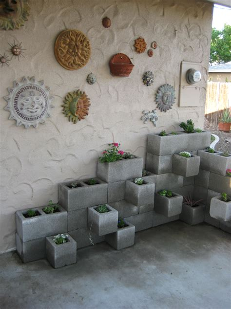 Cinder Block Wall Planter by Block Wall Planter
