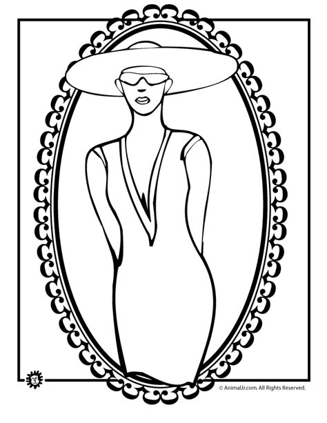 coloring pages of women s hats kentucky derby women hats clipart