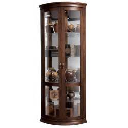 Curio Cabinet Display Howard Miller Contemporary Curve Cherry Corner Display