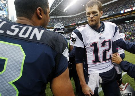 russell wilson meme super bowl 2015 mano a mano russell wilson left and tom brady last
