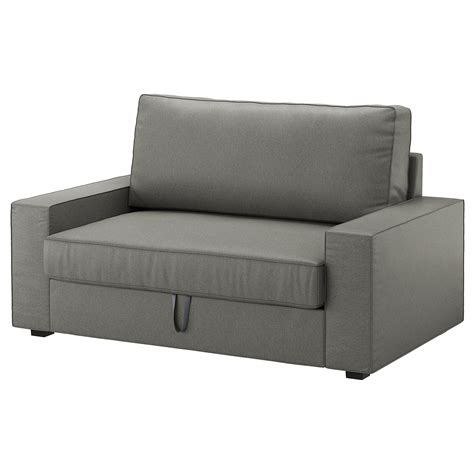 Ikea Two Seater Sofa Bed Vilasund Two Seat Sofa Bed Borred Grey Green Ikea
