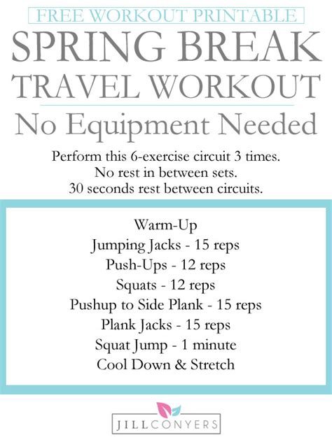 great home workouts without equipment workout