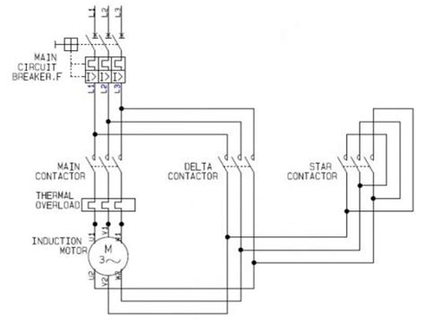 Y Delta Circuit Diagram Wiring Diagram