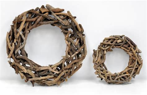 decorative wood wreath just artificial