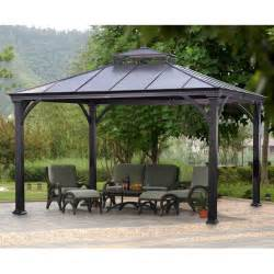 Backyard Metal Gazebos by Sears Metal Pergola Gazebo Pergola Ramada Pinterest