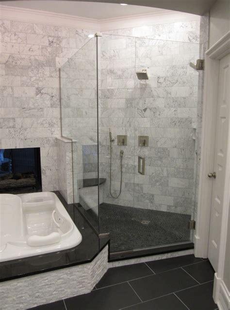 Carerra Marble Bathroom by Marble Master Bath Suite