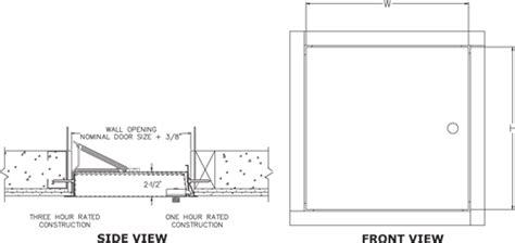 Trap Door Design frc elmdor fire rated wall and ceiling access door