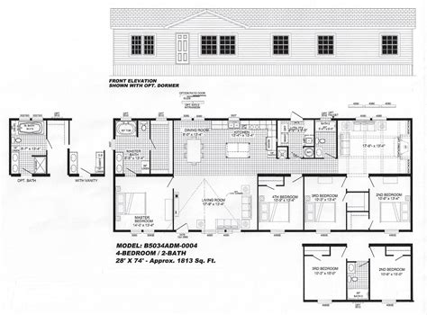 4 bedroom floor plan f 1001 hawks homes manufactured b 5034 hawks homes manufactured modular conway