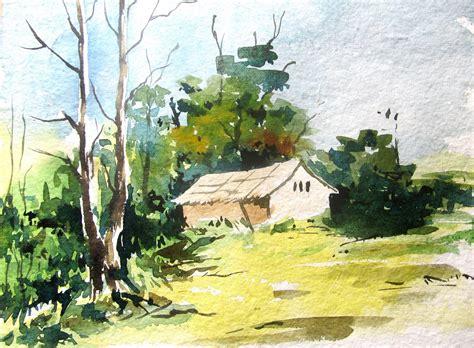 watercolor painting easy watercolor landscape paintings easy landscape