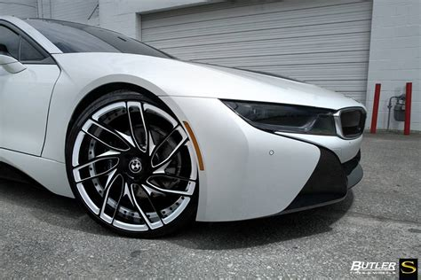 white bmw black rims gallery matte white bmw i8 on savini wheels