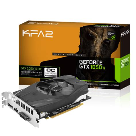 Vga Galax Nvidia Geforce Gtx 1050 Oc 2gb Ddr5 Single Fan kfa2 geforce 174 gtx 1050 ti oc geforce 174 gtx 10 series graphics card