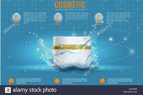 product advertisement template vector cosmetics product advertising template with water