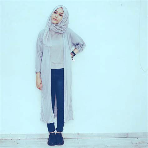 Hp Setelan Set Putih Pakaian Cewek Wanita Dress Blouse tips memadukan warna baju dan jilbab kamu muslimarket
