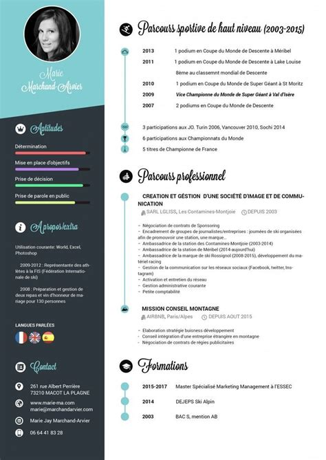 curriculum vitae web page design cv graphique r 233 alis 233 avec photoshop by marie jay cv