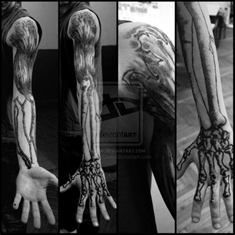 skeleton arm tattoo 20 fantastic arm bone tattoos