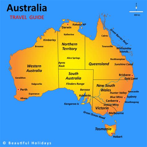 australia in map australia map of travel regions travel australia