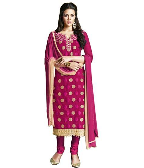 rani pink colour rani pink chanderi unstitched dress material buy rani