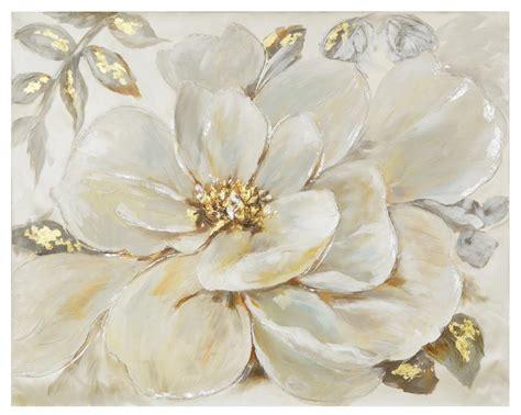 fiori quadro quadro con fiore bianco 100x80 36949 colori e