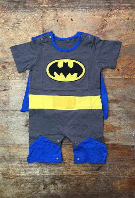 Babycape Polos batman suit with cape baby grow 100 cotton vamers store