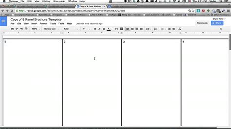 docs book template how to make a brochure using docs using firefox