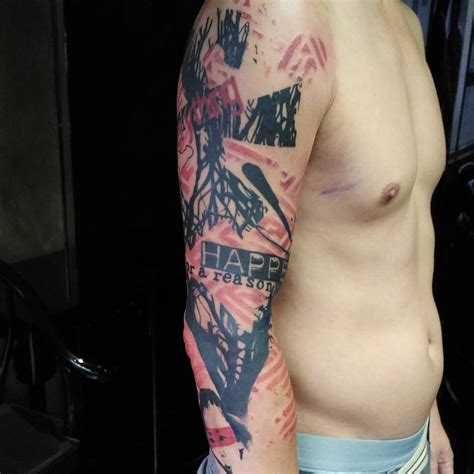 polka tattoo trash polka sleeve best ideas gallery
