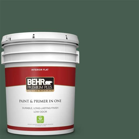 behr premium plus 5 gal n400 7 vine leaf flat low odor