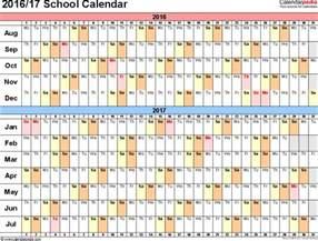 365 Day Calendar Template by School Calendars 2016 2017 As Free Printable Pdf Templates