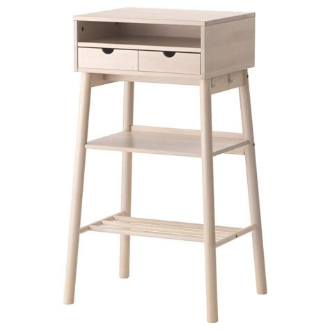 knotten standing desk white birch traditional cable