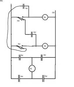 switches circuit for a dc motor with 2 microswitches reversing direction electrical