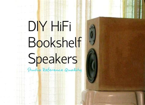 Bluetooth Speakers For Bedroom diy hifi bookshelf speakers studio reference 11 steps