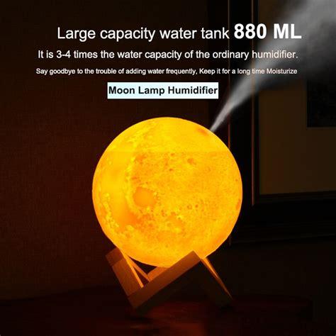 usb ultrasonic air humidifier  moon lamp light