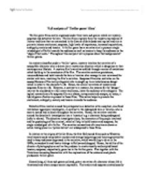 Genre Analysis Essay by Analysis Of Thriller Genre Media Studies Marked By Teachers