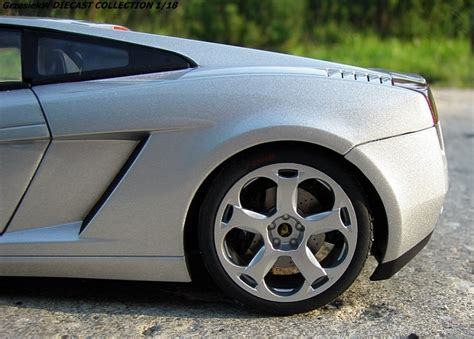 shiny silver lamborghini lamborghini gallardo metallic silver autoart no 74574