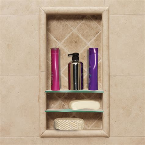 bathroom shower shelf shop american bath factory sistine stone medium sistine