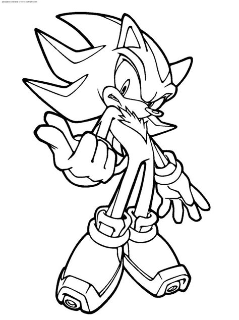 shadow the hedgehog coloring page by scourgexnazo2 on