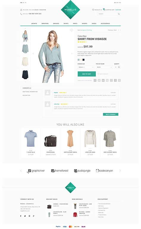modello ecommerce psd template on behance