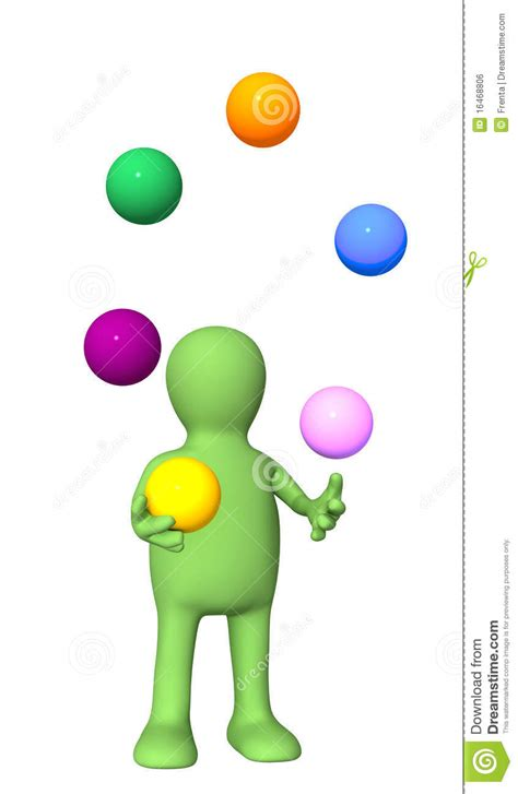 juggler 3d pattern puppet juggling with balls royalty free stock image
