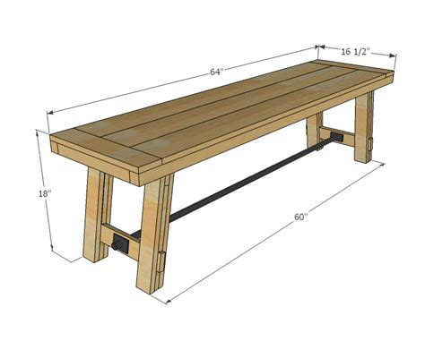 bench standard ana white benchright farmhouse bench diy projects