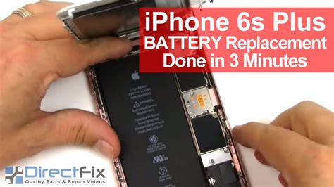 iphone 6s plus battery replacement shown in 3 minutes
